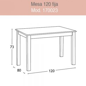 Mesa Rectangular Fija en kit