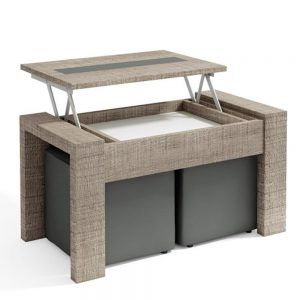 Mesa de Centro Rectangular Mini Elevable